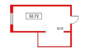 Помещение в ЖК PROMENADE, 32.72 м², 2 этаж