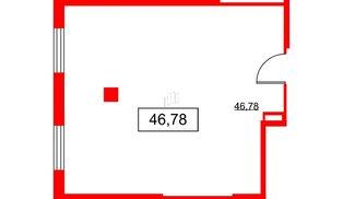 Помещение в ЖК PROMENADE, 46.78 м², 2 этаж