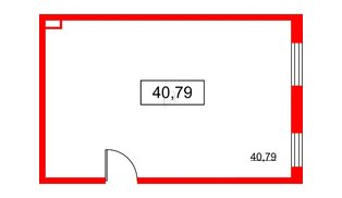 Помещение в ЖК PROMENADE, 40.79 м², 2 этаж