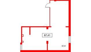 Помещение в ЖК PROMENADE, 67.41 м², 2 этаж