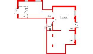 Помещение в ЖК PROMENADE, 124.58 м², 1 этаж