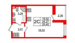 Квартира в ЖК «Солнечный город», студия, 24.27 м², 5 этаж