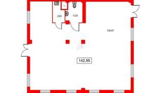 Помещение в ЖК ID Кудрово, 142.95 м², 1 этаж