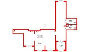 Помещение в ЖК Галактика, 112.4 м², 1 этаж