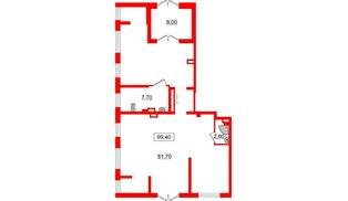 Помещение в ЖК Галактика, 99.4 м², 1 этаж