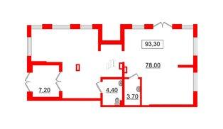 Помещение в ЖК Галактика, 93.3 м², 1 этаж