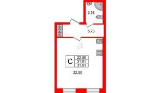 Квартира в ЖК ID Park Pobedy, студия, 31.81 м², 2 этаж
