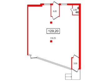 Аренда помещения в ЖК Солнечный город, 129.2 м², 1 этаж
