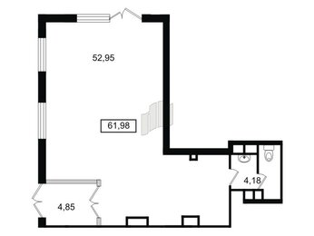 Помещение в ЖК Чистое небо, 63.9 м², 1 этаж