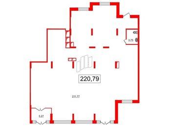 Помещение в ЖК Солнечный город, 215.5 м², 1 этаж