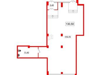 Помещение в ЖК Victory plaza, 130.5 м², 1 этаж