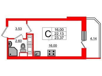 Квартира в ЖК UP! Квартал Светлановский, студия, 24.2 м², 2 этаж