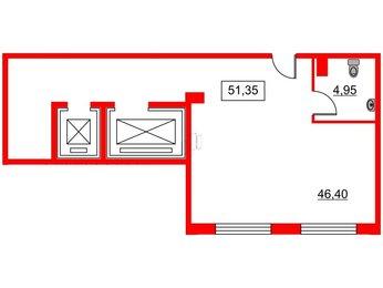 Помещение в ЖК Art Квартал, 51.35 м², 2 этаж