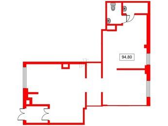 Помещение в ЖК Ландыши, 94.8001 м², 1 этаж