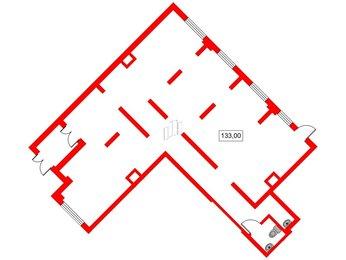 Помещение в ЖК Ландыши, 133 м², 1 этаж