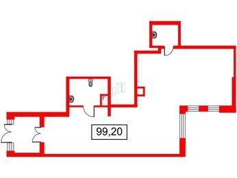 Помещение в ЖК Галактика-Премиум, 99.2 м², 1 этаж