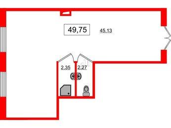 Помещение в ЖК Наутилус, 49.75 м², 1 этаж