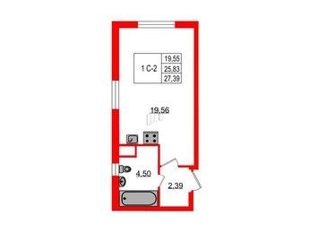 Квартира в ЖК ЯСНО.ЯНИНО, студия, 26.45 м², 1 этаж