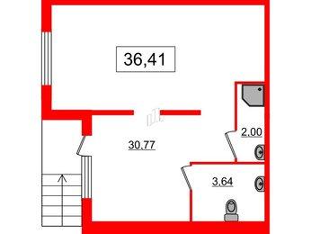 Помещение в ЖК Новое Сертолово, 36.41 м², 1 этаж