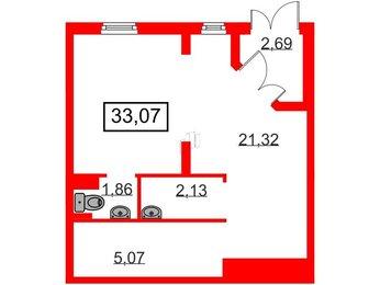 Помещение в ЖК Новое Сертолово, 33.07 м², 1 этаж