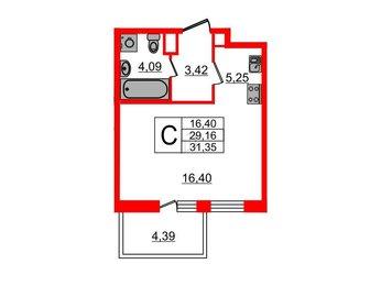 Квартира в ЖК TARMO, студия, 29.16 м², 4 этаж
