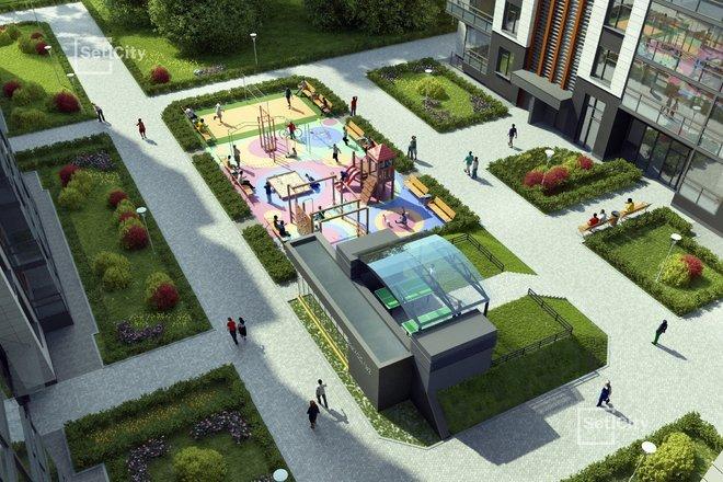 Дворы без машин, с европейскими детскими площадками и беседками для отдыха