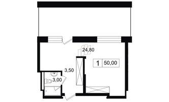 Студия 30.5 м²