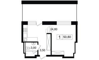 Студия 31.3 м²