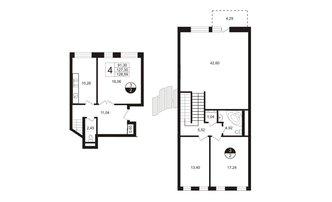 4 комн. кв. 129.82 м²