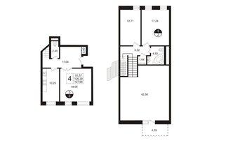 4 комн. кв. 129.32 м²