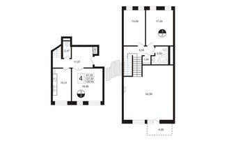 4 комн. кв. 129.83 м²