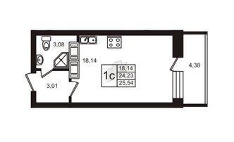 Студия 24.23 м²