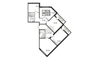 4 комн. кв. 105.63 м²