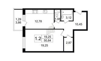 1 комн. кв. 49.91 м²