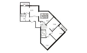 3 комн. кв. 126.76 м²